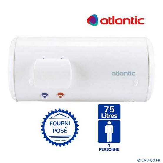 chauffe eau electrique 75l atlantic chauff o horizontal sortie basse. Black Bedroom Furniture Sets. Home Design Ideas