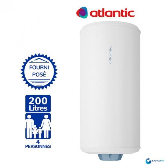 Chauffe eau électrique ATLANTIC 200L Zénéo Mural Vertical Résistance Stéatite Protection Dynamique
