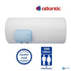 Chauffe eau électrique ATLANTIC 100L Zénéo Horizontal Sortie Basse Résistance Stéatite Protection Dynamique