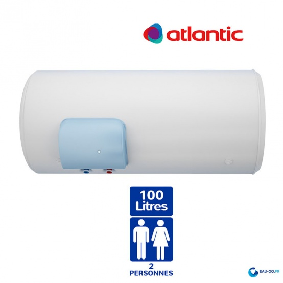 chauffe eau electrique 100l atlantic z n o horizontal. Black Bedroom Furniture Sets. Home Design Ideas