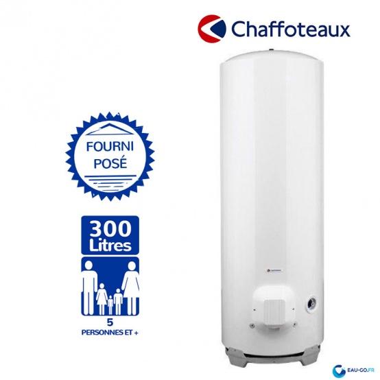 Chauffe eau électrique CHAFFOTEAUX 300L HPC2 Vertical sur Socle livré Installé