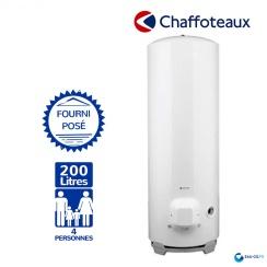 Chauffe Eau electrique CHAFFOTEAUX 200L Vertical sur Socle Blindée ref 3000603