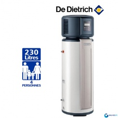 Chauffe eau Thermodynamique DE DIETRICH 230L Kaliko Essentiel Vertical sur Socle