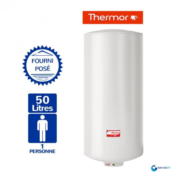 Chauffe eau électrique THERMOR 50L Duralis Mural Vertical Etroit Résistance Stéatite Protection Dynamique