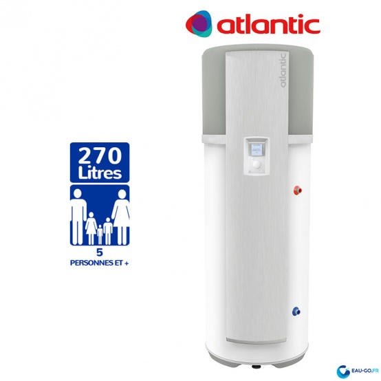 Chauffe eau Thermodynamique ATLANTIC 270L ODYSSÉE ref 232510