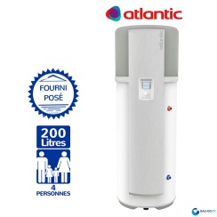 Chauffe eau Thermodynamique ATLANTIC 200L ODYSSÉE ref 232511