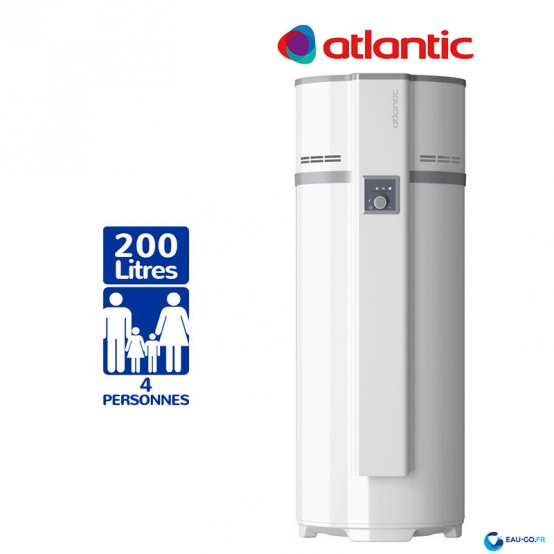 Chauffe eau Thermodynamique 200L ATLANTIC Egéo Air Ambiant Vertical sur Socle