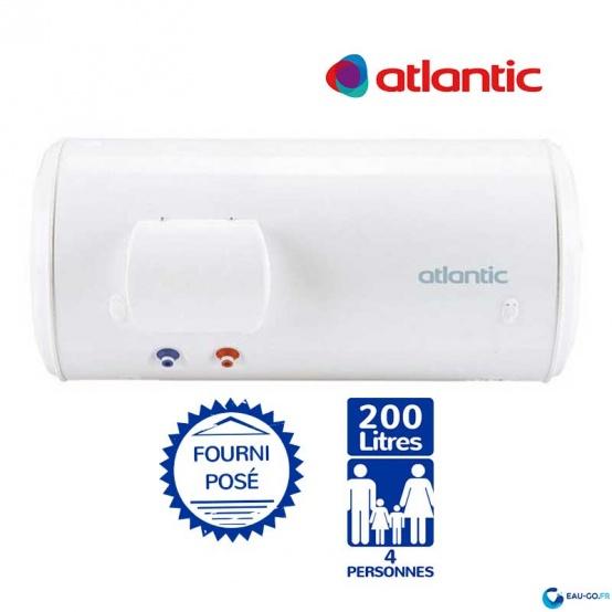 Chauffe eau electrique 200L ATLANTIC 200 Chaufféo horizontal sortie basse