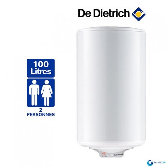 Chauffe eau électrique DE DIETRICH 100 litres Cor-Email THS Mural Vertical Résistance Stéatite Protection Dynamique
