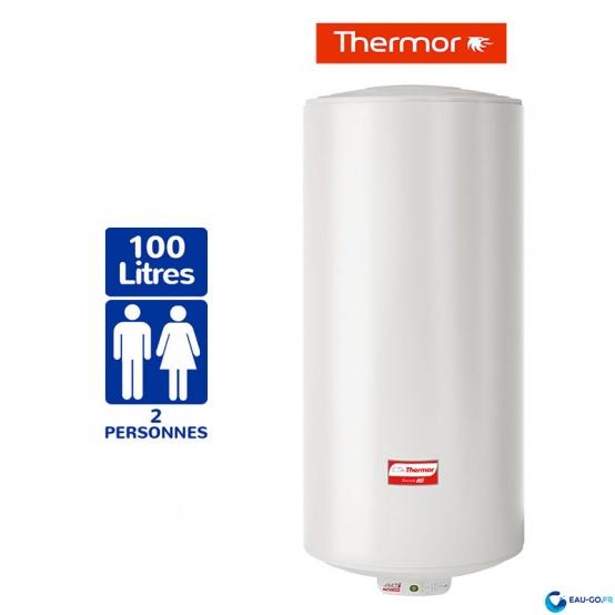Chauffe eau électrique THERMOR Duralis 100L Vertical Mural Etroit