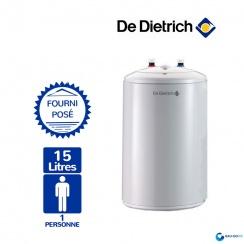 chauffe eau electrique 15l de dietrich cor email bloc sous. Black Bedroom Furniture Sets. Home Design Ideas