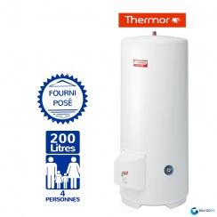 chauffe eau electrique 200l thermor duralis vertical sur socle. Black Bedroom Furniture Sets. Home Design Ideas