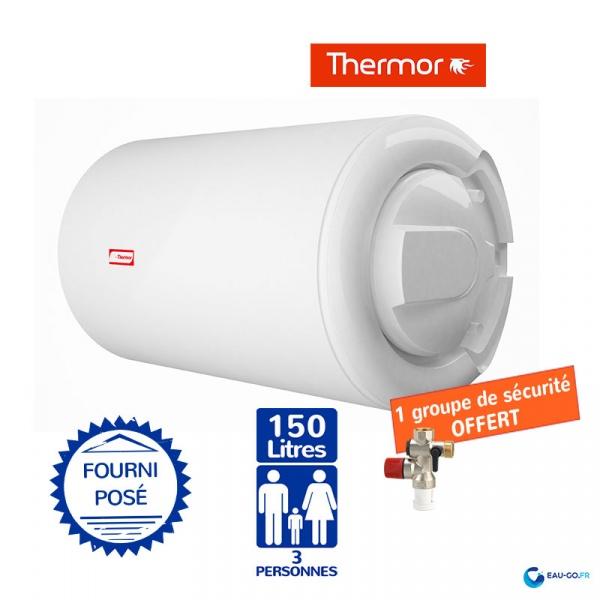 chauffe eau electrique 150l thermor blind horizontal sortie c t. Black Bedroom Furniture Sets. Home Design Ideas