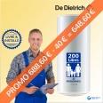 Chauffe-eau électrique 200L DE DIETRICH CEB Vertical Mural : Livré & Installé à domicile