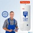 Chauffe-eau électrique 200L THERMOR Duralis Vertical Stable (sur Socle) - Livré & Installé à domicile