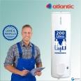 Chauffe-eau électrique 200L ATLANTIC Chaufféo vertical sur socle : Livré & Installé à domicile