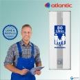 Chauffe-eau électrique 80L ATLANTIC Linéo Mural Vertical : Livré & Installé à domicile