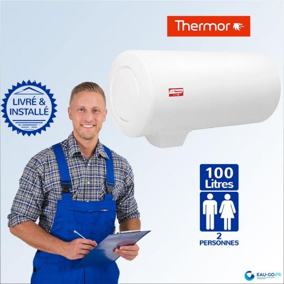chauffe eau electrique 100l thermor duralis horizontal sortie basse. Black Bedroom Furniture Sets. Home Design Ideas