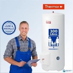 Chauffe-eau électrique 300L THERMOR Duralis Vertical Stable (sur Socle) : Livré & Installé à domicile