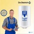 Chauffe-eau électrique 200L DE DIETRICH Cor-Email THS Vertical Mural - Livré & Installé à domicile