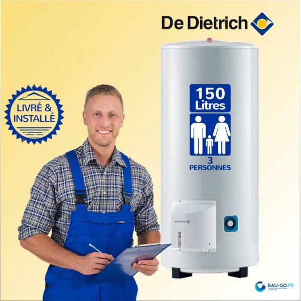 chauffe eau lectrique 150l de dietrich ths vertical sur socle. Black Bedroom Furniture Sets. Home Design Ideas