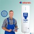 Chauffe eau electrique 300L ATLANTIC sur socle CHAUFFEO ref 022130