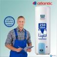 Chauffe-eau électrique 250L ATLANTIC Vizengo Vertical sur Socle : Livré & Installé à domicile