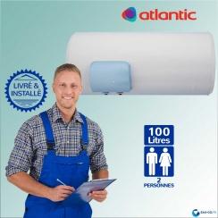 Chauffe eau électrique ATLANTIC 100L Zénéo Horizontal ref 155410