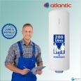 Chauffe-eau électrique 200L ATLANTIC Zénéo Vertical Mural : Livré & Installé à domicile