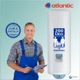 Chauffe-eau électrique 200L ATLANTIC Vizengo Vertical Mural : Livré & Installé à domicile