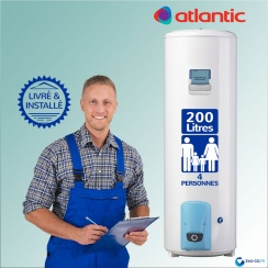 Chauffe-eau électrique 200L ATLANTIC Vizengo Vertical Sur Socle : Livré & Installé à domicile