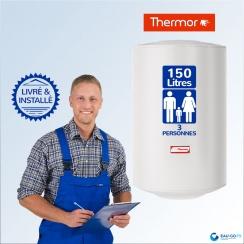 Chauffe-eau électrique 150L DE DIETRICH CEB Vertical Mural : Livré & Installé à domicile