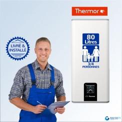Chauffe-eau électrique 80L THERMOR MALICIO 2 Connecté Vertical ou Horizontal : Livré & Installé à domicile