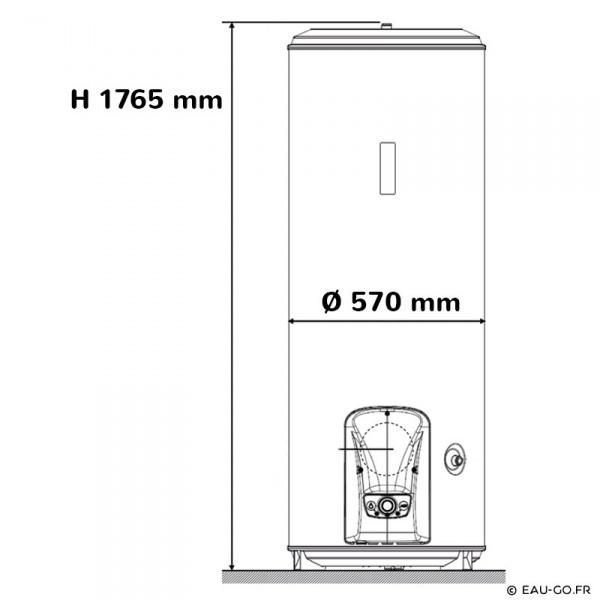 chauffe eau electrique 300l atlantic vizengo vertical sur. Black Bedroom Furniture Sets. Home Design Ideas