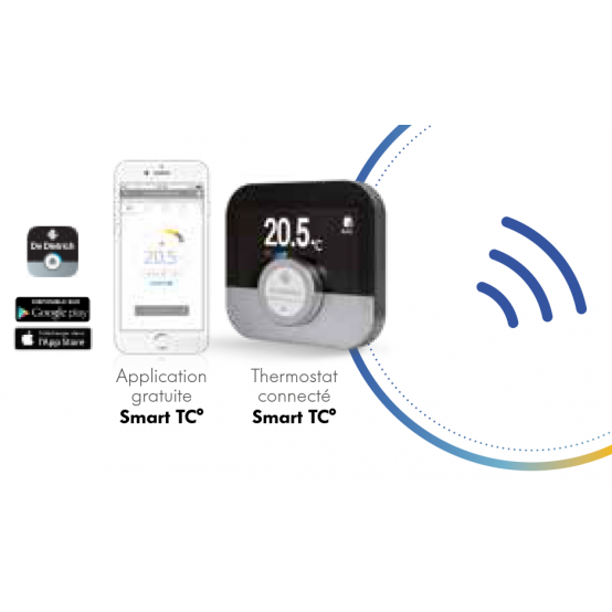 Thermostat d'ambiance connecté  filaire smart TC° De Dietrich
