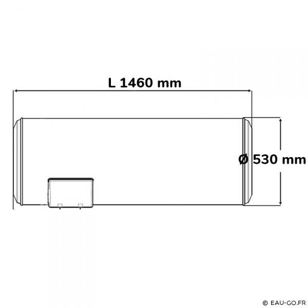 chauffe eau electrique 200l atlantic chauff o horizontal sortie basse. Black Bedroom Furniture Sets. Home Design Ideas