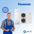 Pompe à chaleur air-eau  Panasonic AQUAREA T-CAP DUO avec Ballon Eau chaude Sanitaire
