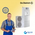 Pompe à chaleur air-eau  De Dietrich Alezio O HYBRID V200 Fioul  &  Ballon Eau chaude- Livrée & installée à domicile