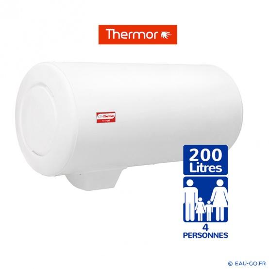 Chauffe eau électrique THERMOR 200L Duralis Mural Horizontal Résistance Stéatite Protection Dynamique