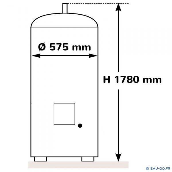 chauffe eau electrique 300l thermor duralis vertical sur socle. Black Bedroom Furniture Sets. Home Design Ideas