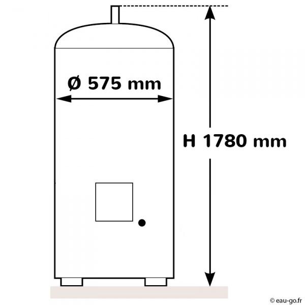 chauffe eau electrique 300l thermor steatis stable