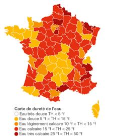 Eau adoucie nécessaire ? Dureté de l'eau en France