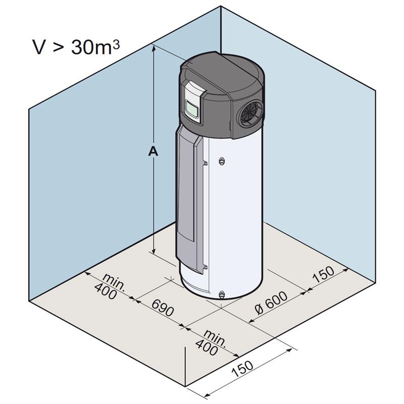 Chauffe eau thermodynamique de dietrich kaliko twh 200 e air ext rieur - Chauffe eau thermodynamique installation ...